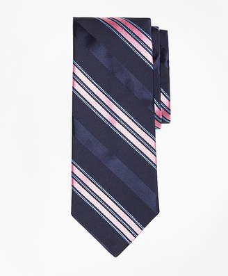 Brooks Brothers Satin Ribbed Stripe Tie