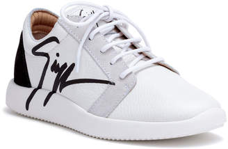 Giuseppe Zanotti White leather logo sneakers