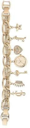 Juicy Couture Women's Gold-Tone Charm Bracelet Watch, 20mm