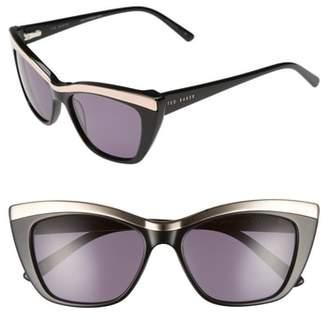 Ted Baker 54mm Rectangle Cat Eye Sunglasses