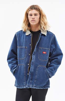 Dickies Denim Zip Front Work Coat