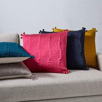 west elm Washed Silk Quilted Pillow Cover