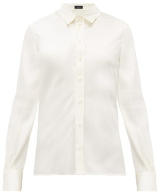 Joseph Silk Satin Shirt - Womens - Ivory