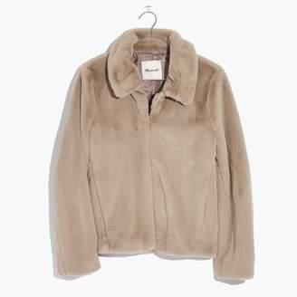 Madewell Shrunken Faux-Mink Jacket