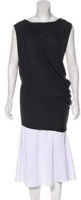 AllSaints Sleeveless Asymmetrical Tunic