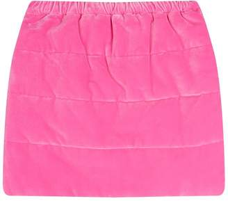 Il Gufo Velvet Padded Skirt