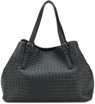 Bottega Veneta nero Intrecciato nappa large cesta bag
