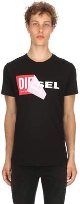 Diesel Reworked Logo Cotton Jersey T-Shirt