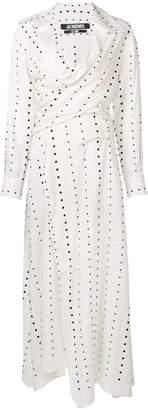Jacquemus polka dot print shirt dress