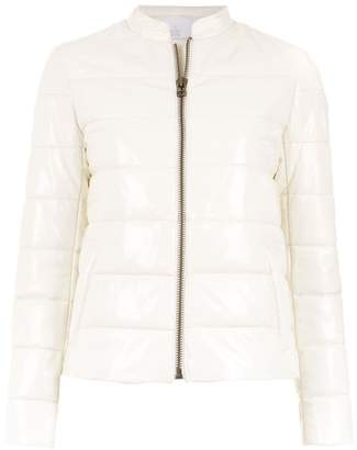 Nk leather puffer jacket