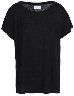 Velvet by Graham & Spencer Alecia Slub Linen-Blend Jersey T-Shirt