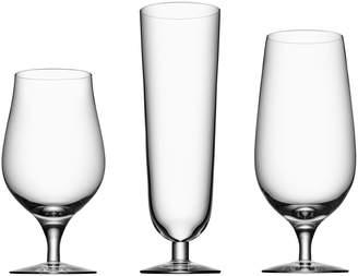 Orrefors 3-Piece Beer Glass Set