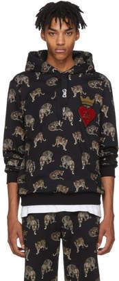 Dolce & Gabbana Black Leopard Hoodie