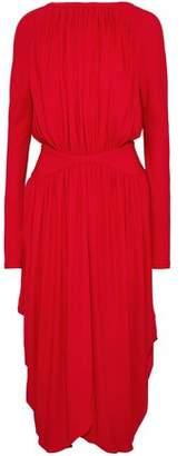 Antonio Berardi Gathered Crepe Midi Dress