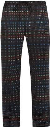 MENG Rectangle-print silk-satin pyjama trousers