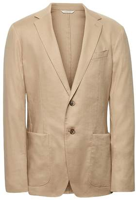 Banana Republic Heritage Slim Khaki Linen Suit Jacket