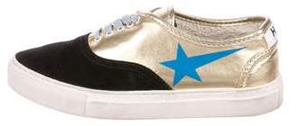 Golden Goose Haus x Metallic Low-Top Sneakers