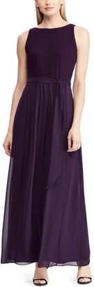 Chaps Women's Mixed-Media Maxi Dress