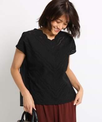 INDIVI (インディヴィ) - INDIVI 【WEB限定/ハンドウォッシュ】アイレットレースシャツ