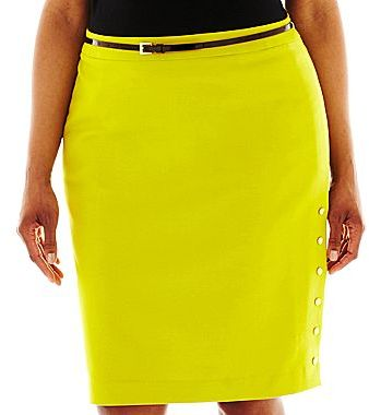 JCPenney Worthington® Side-Snap Pencil Skirt - Plus