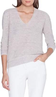 Akris Sequin Knit Linen Blend Sweater