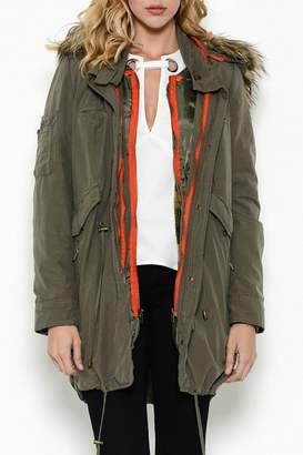 Esley Collection Olive Cargo Parka