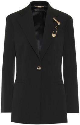 Versace Embellished stretch-wool blazer