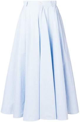 MM6 MAISON MARGIELA striped full skirt