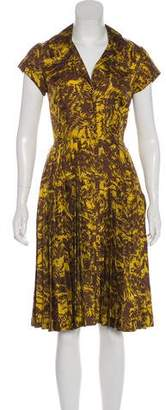 Milly Knee-Length Abstract Print Dress