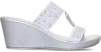 Carvela Comfort Salt embellished wedge sandals