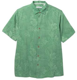 Tommy Bahama Front Button Floral Print Silk Shirt (Big & Tall)