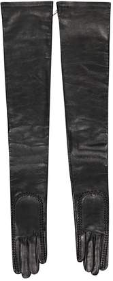 Givenchy Black Leather Gloves