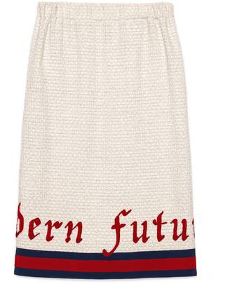 Embroidered tweed pencil skirt $1,500 thestylecure.com