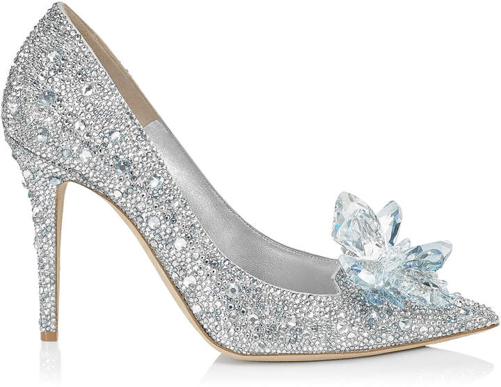 ALIA Crystal Covered Pointy Toe Pumps