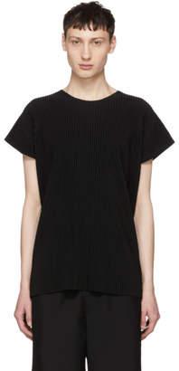 Issey Miyake Homme Plisse Black Pleated T-Shirt