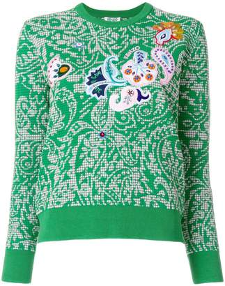 Kenzo floral patterned sweater