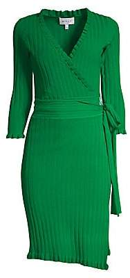 12025733a99 Milly Women s Ruffle Edge Wrap Dress