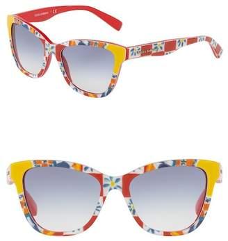 Dolce & Gabbana 47mm Cat Eye Sunglasses