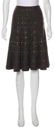 Lafayette 148 Embellished Wool Skirt