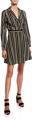 Astr Striped Wrap Shirtdress