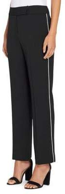 Tahari Arthur S. Levine Straight-Leg Piping Pants