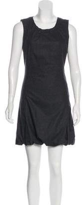 Dolce & Gabbana Virgin Wool Sleeveless Dress