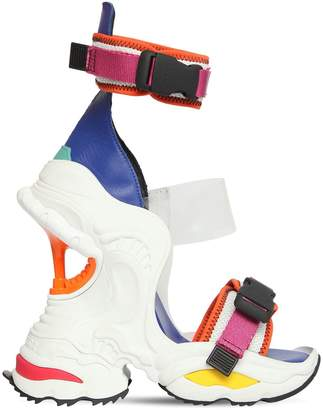 DSQUARED2 100mm Giant Neoprene & Plexi Sandals