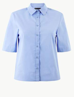 Marks and Spencer Boxy Fit Cropped Shirt