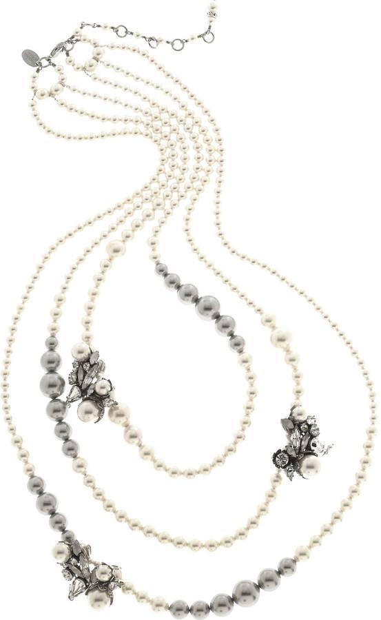 Erickson Beamon Ballerina Swarovski crystal and pearl necklace