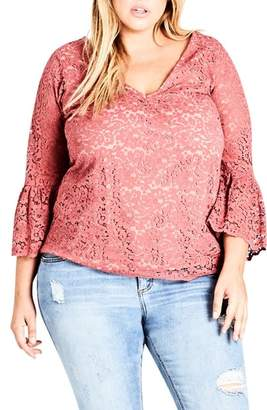 City Chic Mystic Lace Top