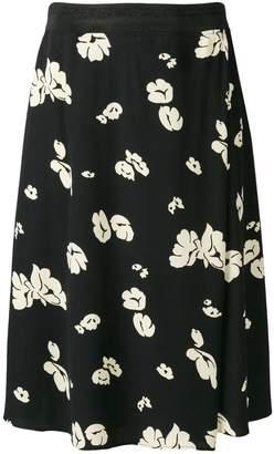 A.P.C. floral print midi skirt