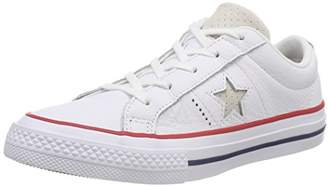 Converse Unisex Kids' ONE Star OX Trainers, Gym Red/White 102, 13.5UK Child