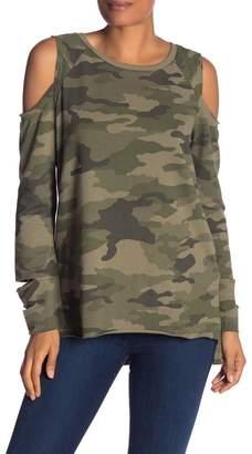 Vince Camuto Cold Shoulder Camo Sweatshirt
