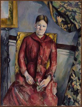 Cezanne The Museum Outlet - Portrait of Madame in a Red Dress, 1888-90 - Canvas Print Online Buy